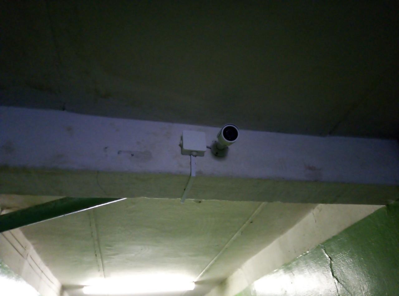 Монтаж видеонаблюдения на объекте Ф-л БГТУ в г.Бобруйск